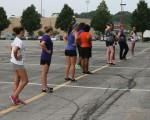 Struthers Band and Flag Line - Aug. 5, 2014